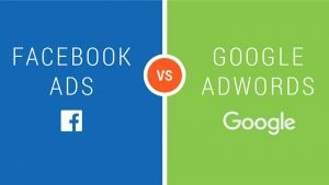 diferença entre google adwords e facebook ads