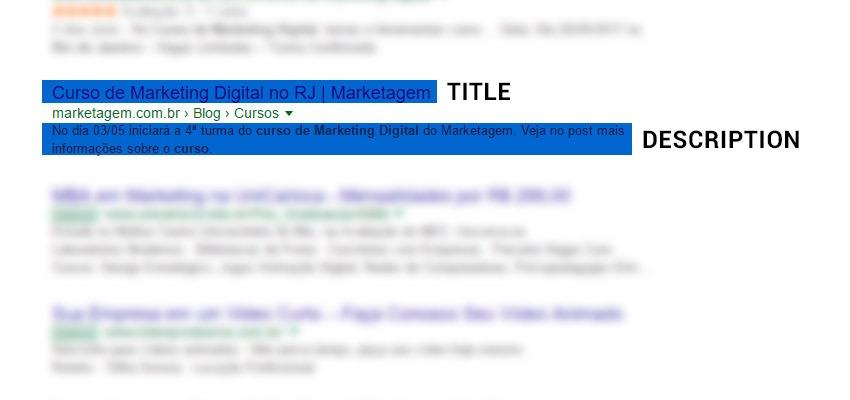 title e description