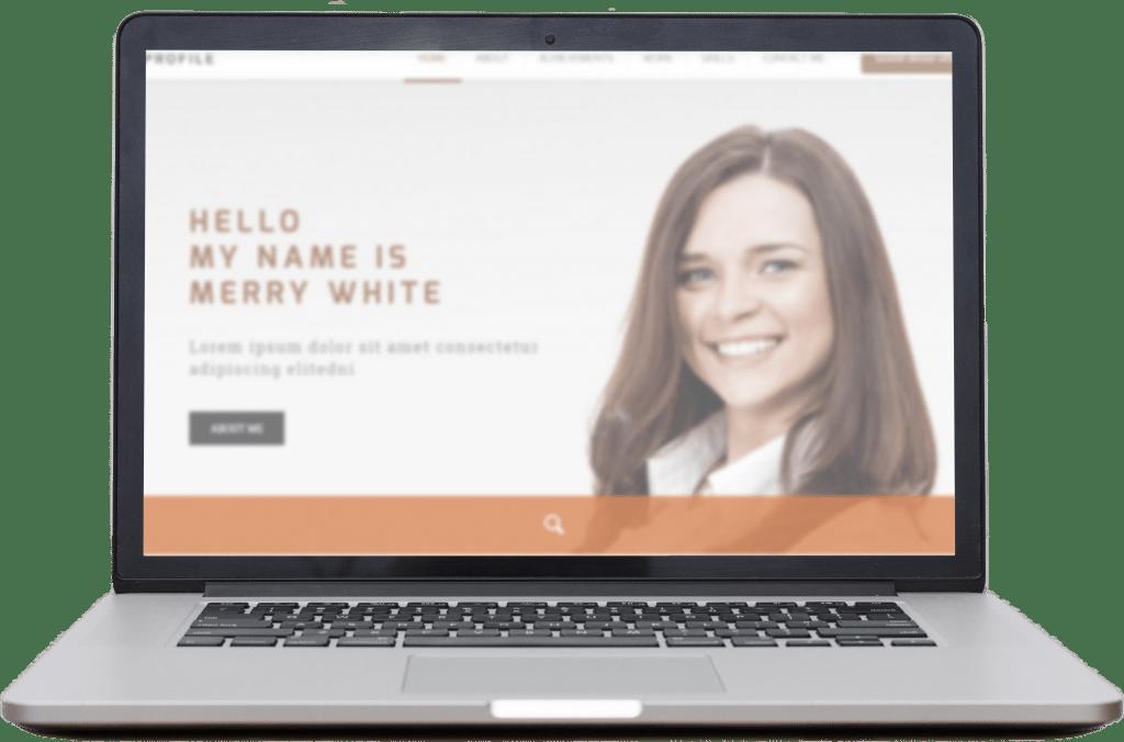 Exemplo de site pessoal no Vix